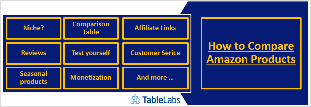 How to Compare Amazon Products – 11 tips for Amazon Affiliates